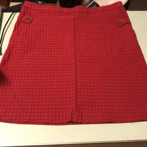 Classic red skirt